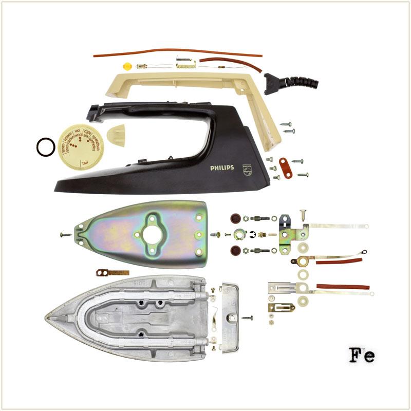Electric Iron Parts ~ Philips deconstruction art